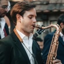 Unser Saxophonist Michi
