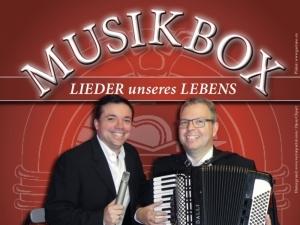 Musikbox spielt Firmenjubiläum / Betriebsfeier, Geburtstag, Hochzeit, Kirche / Sakral, Polterabend, Sommerfest, Taufe, Trauerfeier, Trauung, Vereinsfest und Weihnachtsfeier