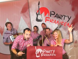 Partyfranken spielt Hochzeit, Firmenjubiläum / Betriebsfeier, Geburtstag, Faschingsball, Polterabend, Sommerfest, Stadtfest und Volksfest / Zeltparty