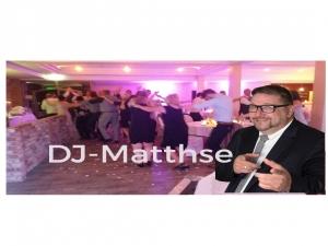 DJ-Matthse spielt Hochzeit, Firmenjubiläum / Betriebsfeier, Geburtstag, Tanzball / Gala, Faschingsball und Trauung