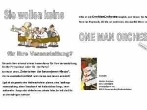 oneman-orchetra spielt Hochzeit, Firmenjubiläum / Betriebsfeier, Geburtstag, Faschingsball, Trauung, Polterabend, Sommerfest, Stadtfest, Vereinsfest, Volksfest / Zeltparty, Weihnachtsfeier und Club / Disco