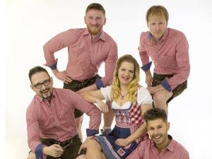 Gaudifranken spielt Faschingsball, Firmenjubiläum / Betriebsfeier, Hochzeit, Sommerfest, Stadtfest und Volksfest / Zeltparty