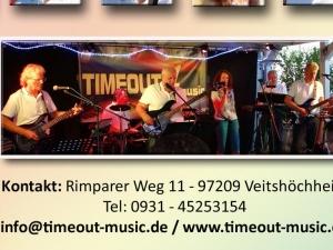 TIMEOUT 4 music spielt Faschingsball, Firmenjubiläum / Betriebsfeier, Geburtstag, Hochzeit, Polterabend, Sommerfest, Stadtfest und Vereinsfest